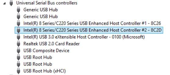 intel usb 3.1 driver windows 10